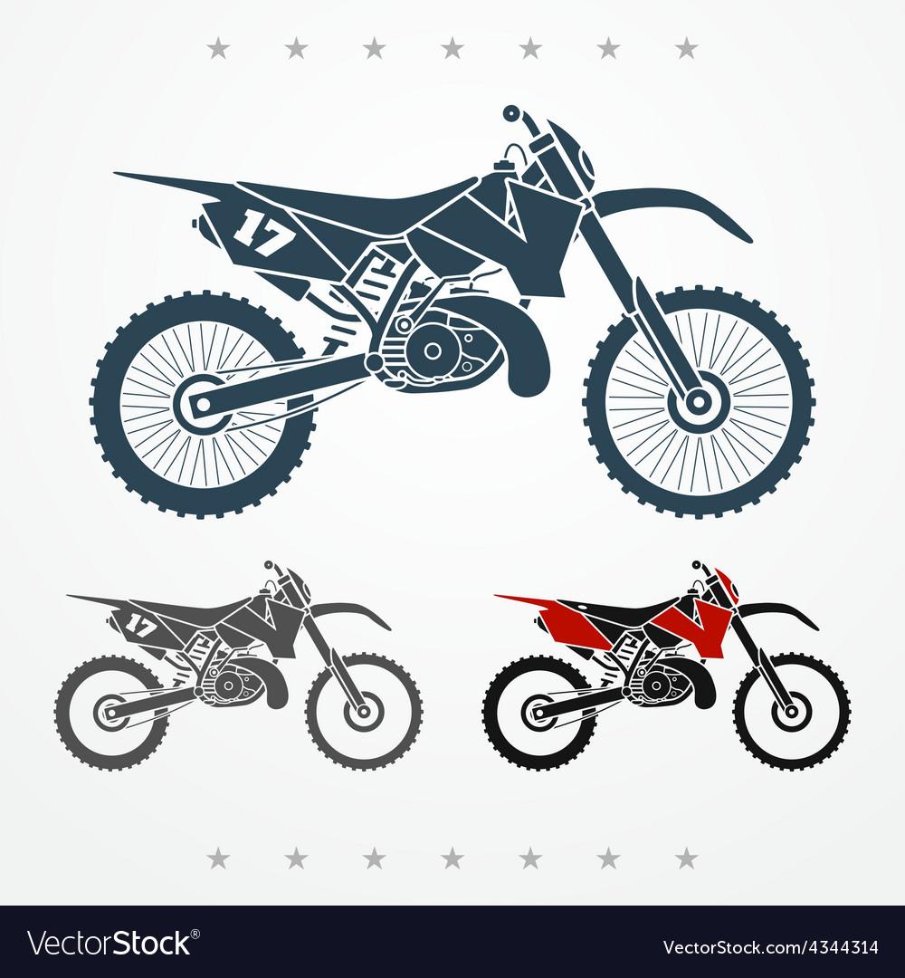 Cross motorcycle vector