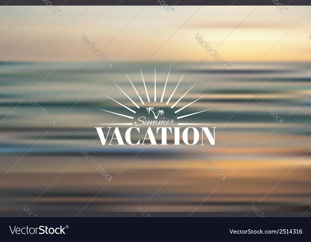 Summer holidays vector