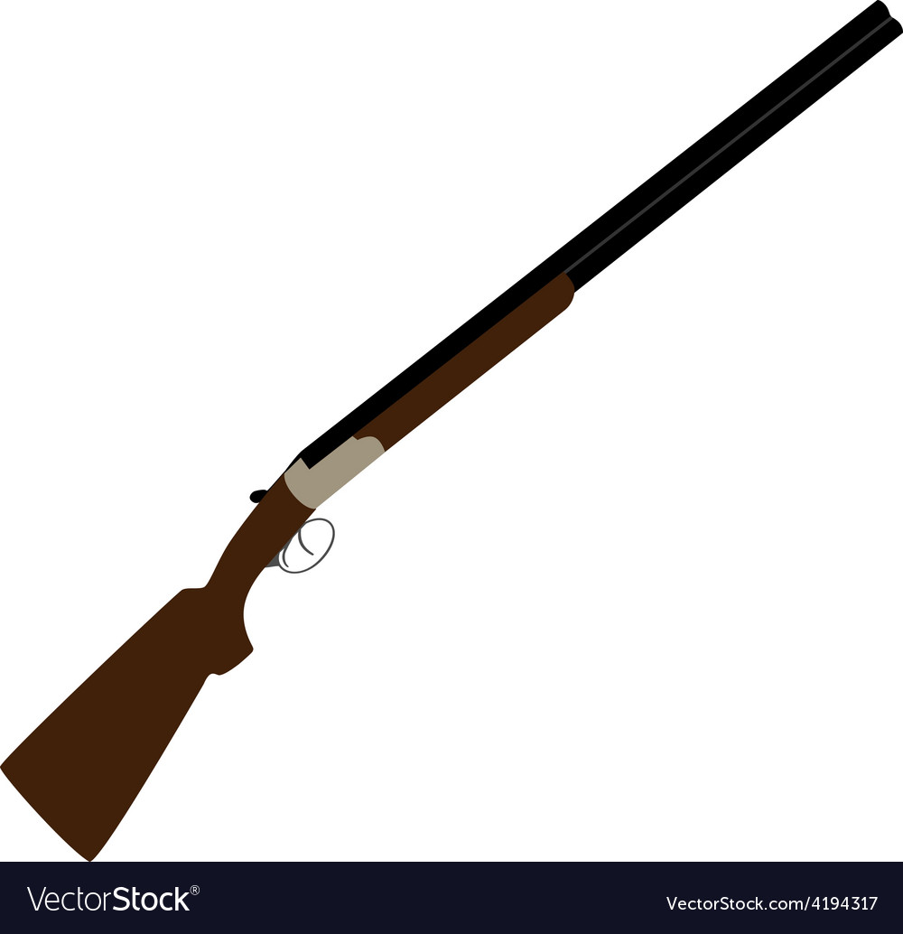 Hunting rifle vector