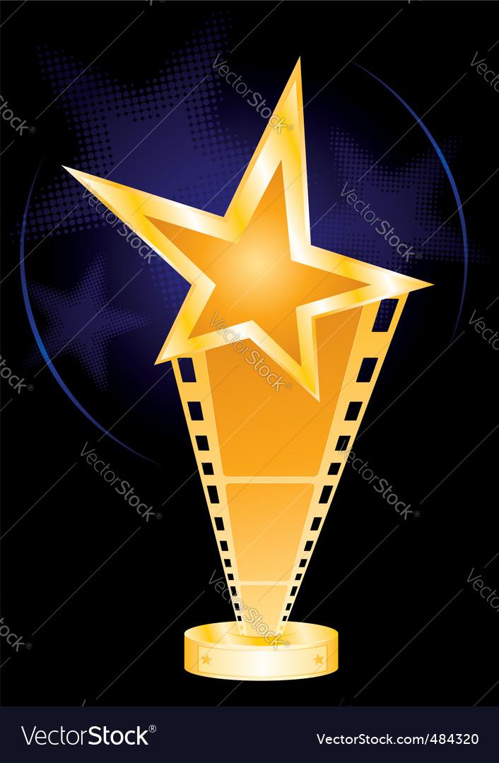 Movie award vector