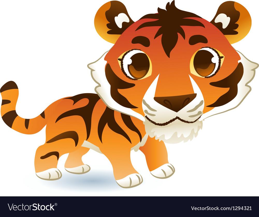 Cute tiger vector