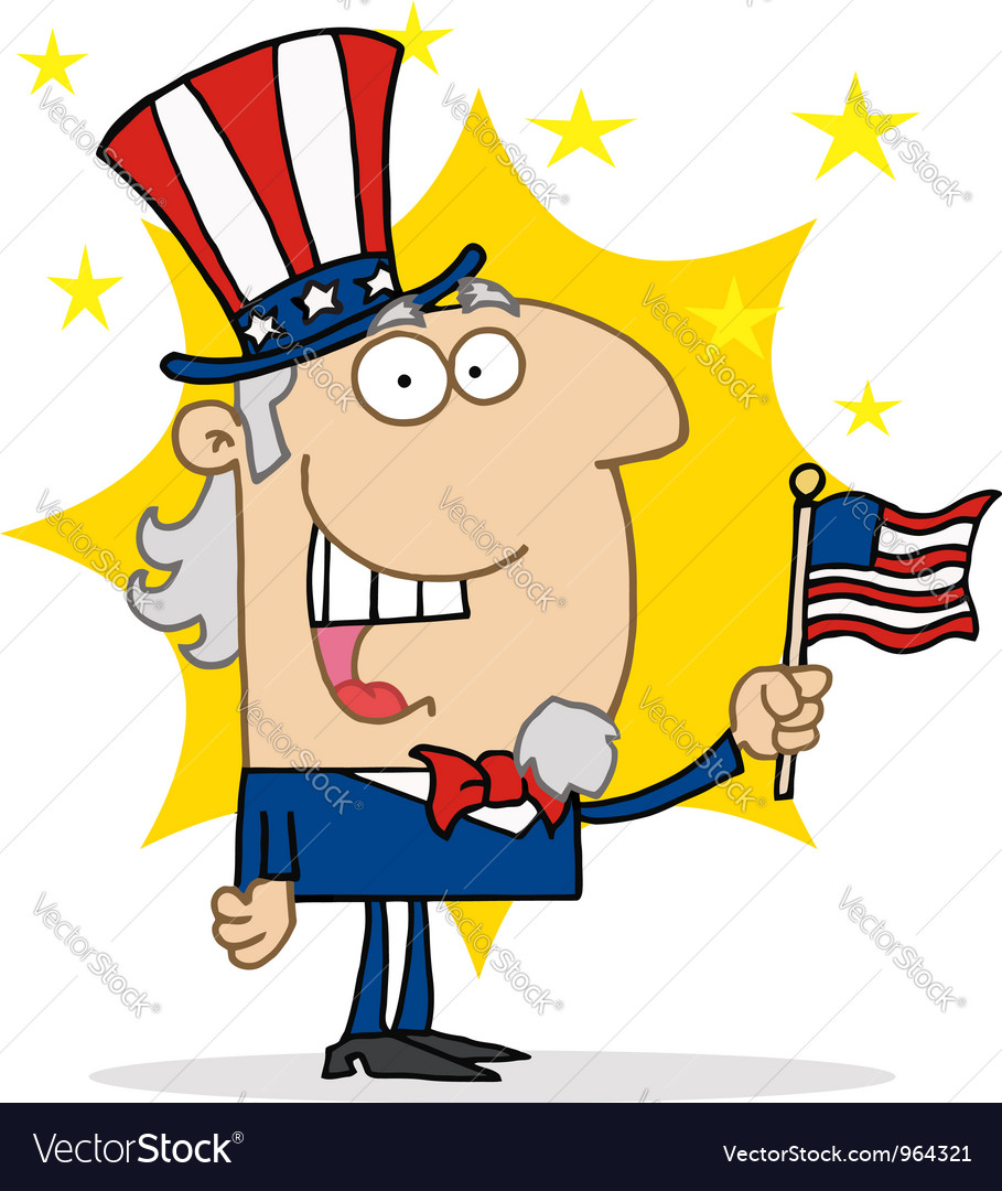 Energetic uncle sam vector