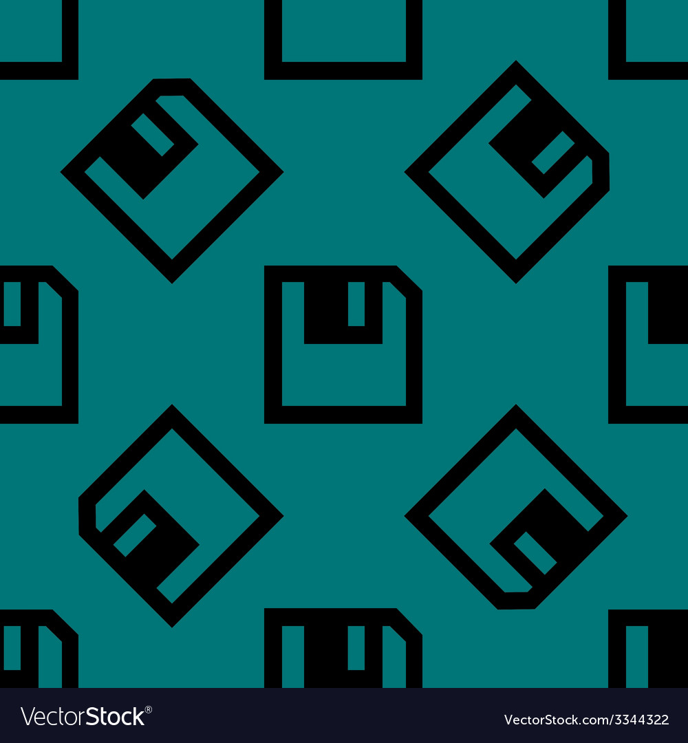 Floppy disk web icon flat design seamless pattern vector