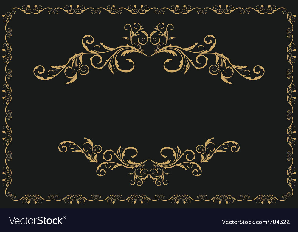 Luxury gold pattern vector