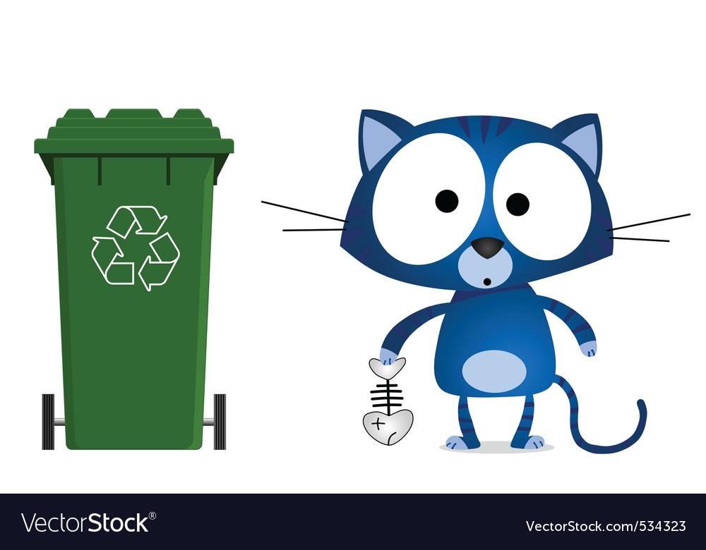 Cat recycling vector