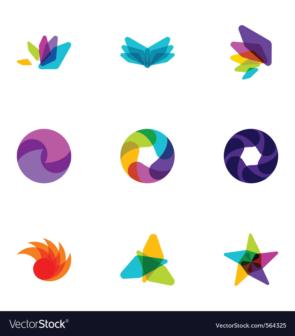 Logo design elements set 08 vector