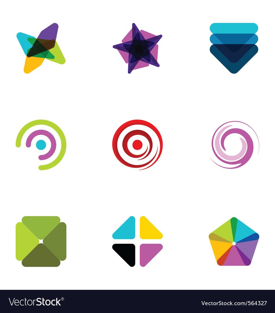 Logo design elements set 09 vector