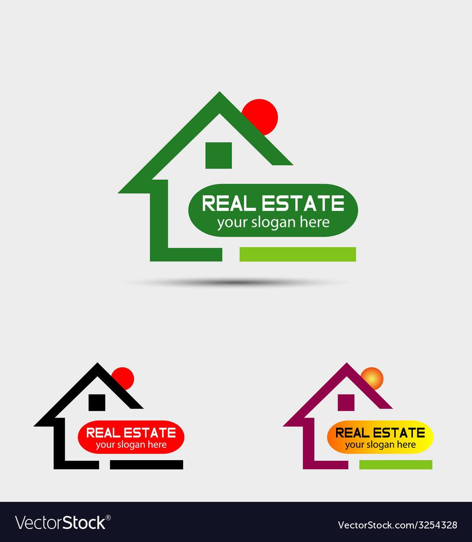 Real estate property logo vector