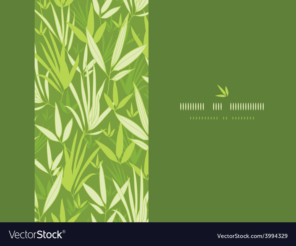 Bamboo branches vertical decor seamless pattern vector