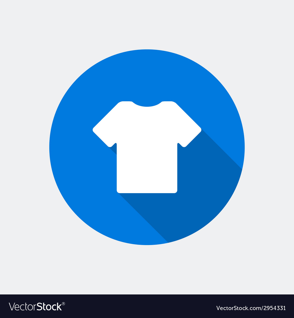 T shirt icon vector