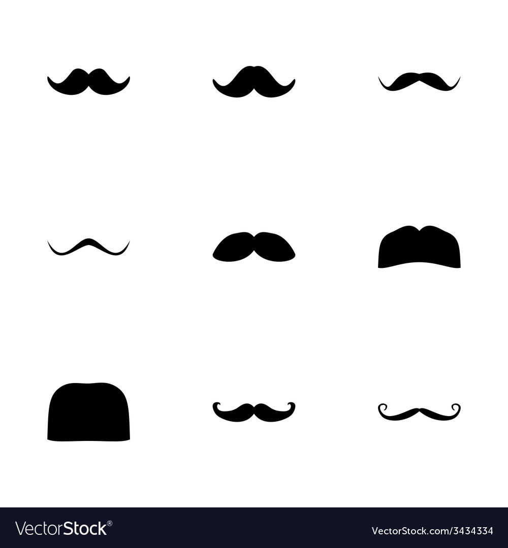 Moustaches icon set vector