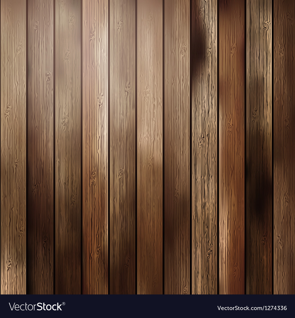 Big brown wood plank wall texture vector