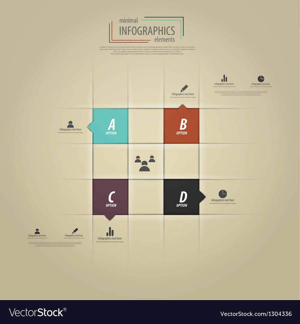 Infographics template 4 vector
