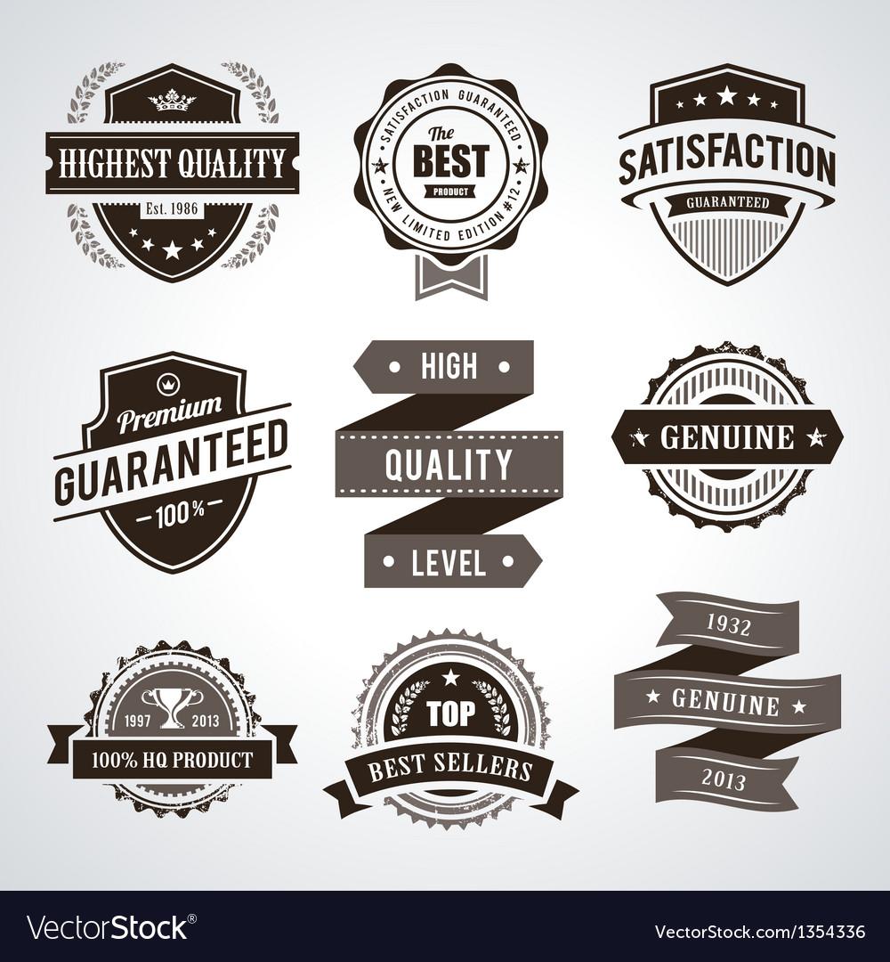 Retro labels vector