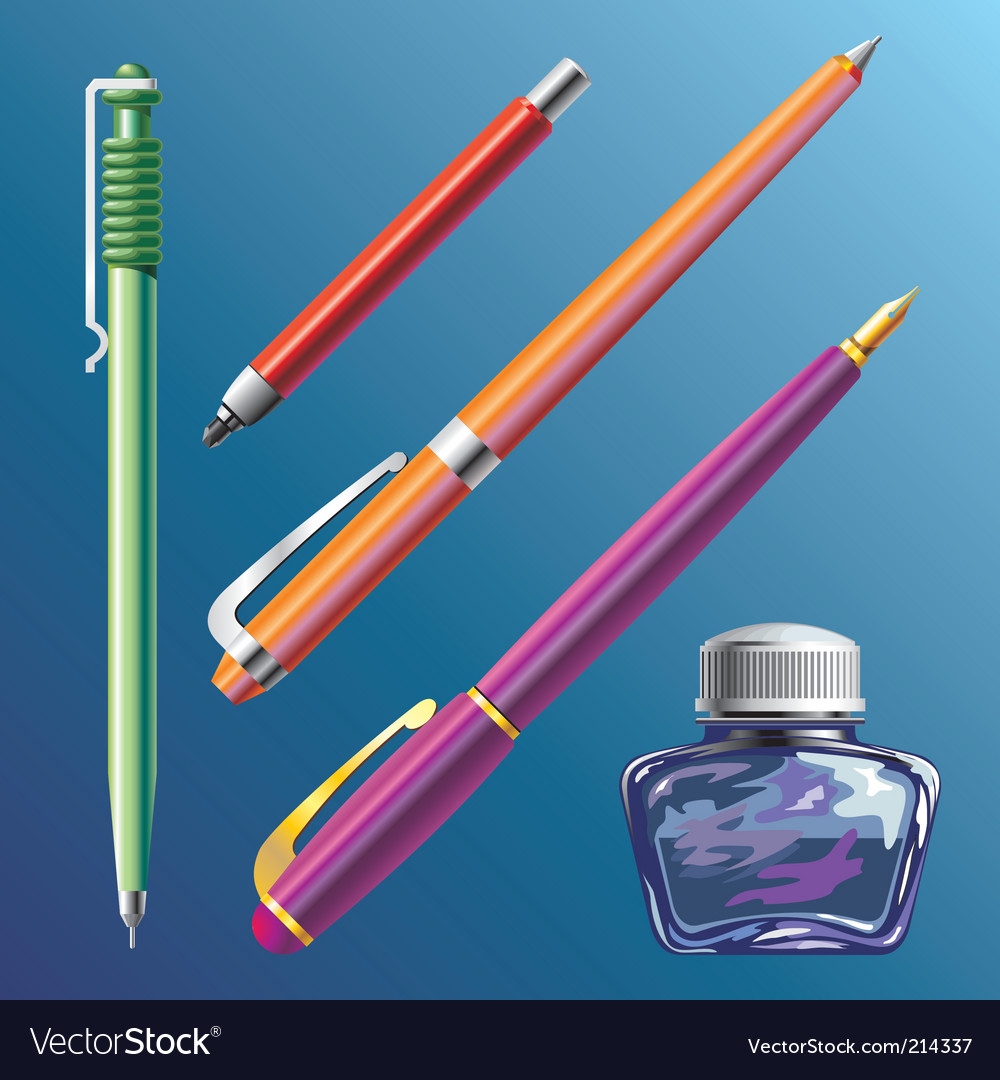 Pen vector