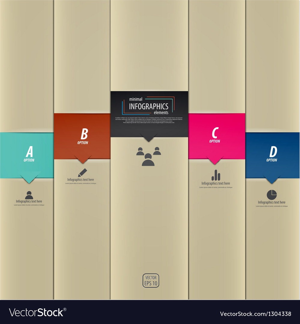Infographics template 5 vector