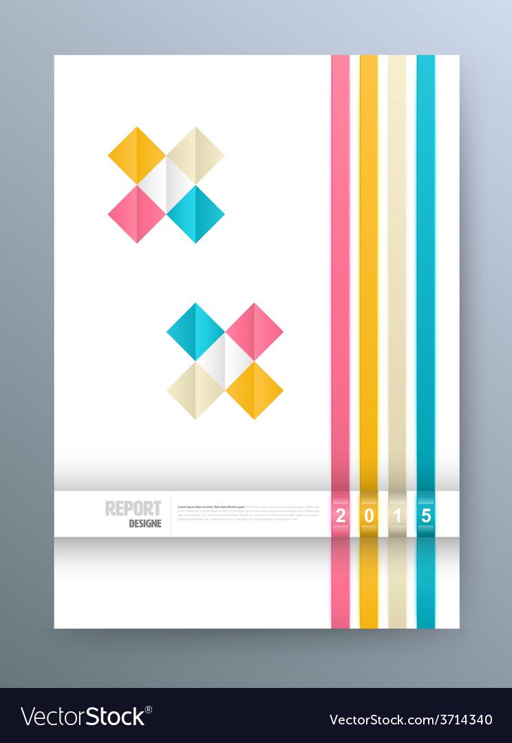Cover magazine square colorful template design vector