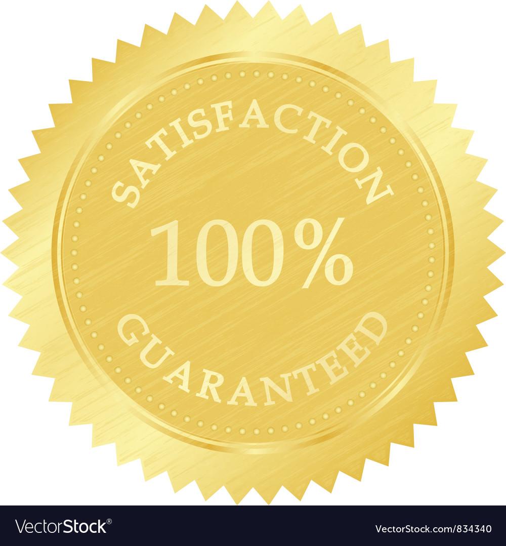 Gold guarantee stamp vector