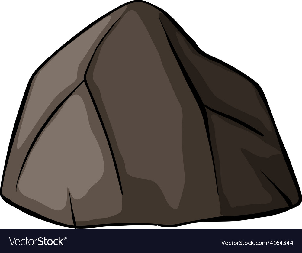 One grey rock vector