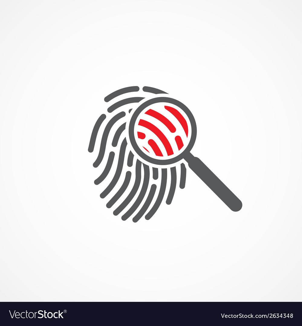 Crime icon vector