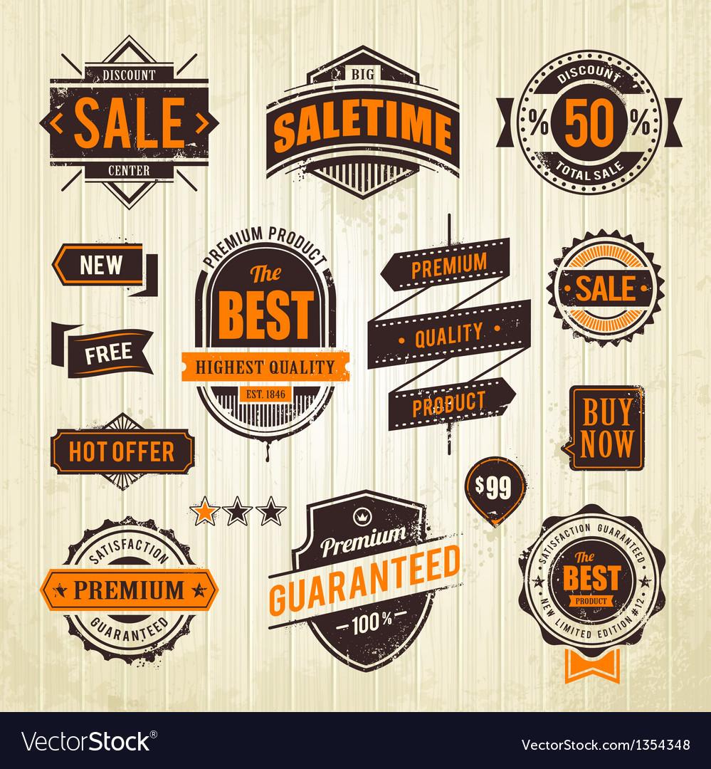 Grunge sale emblems vector