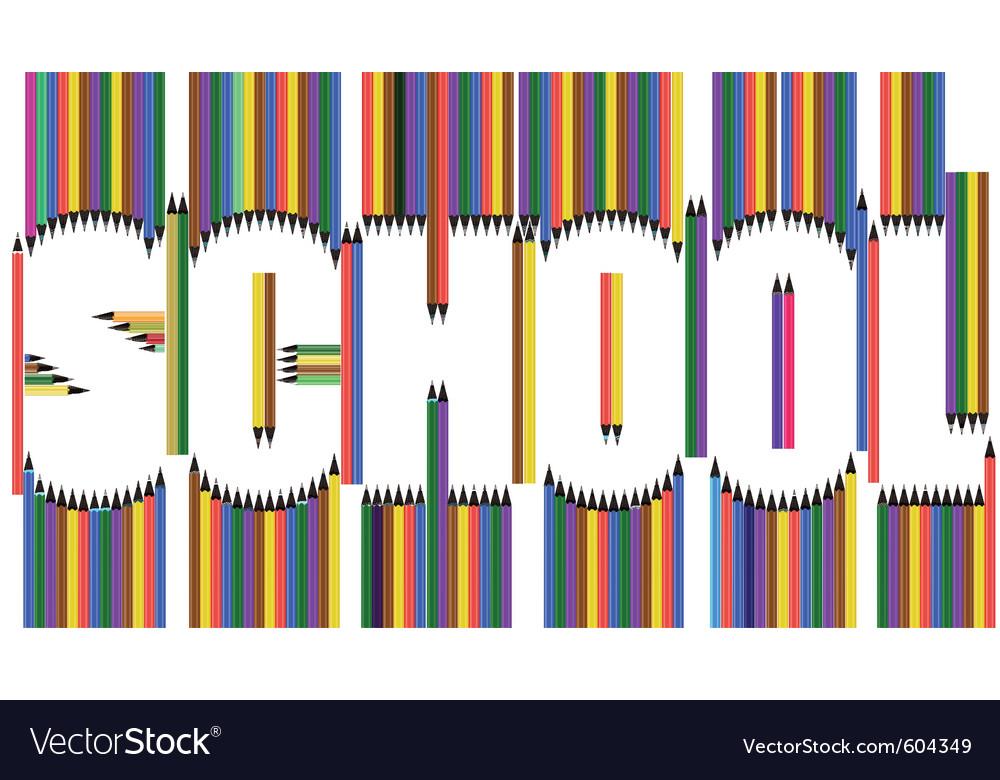 School pencils vector