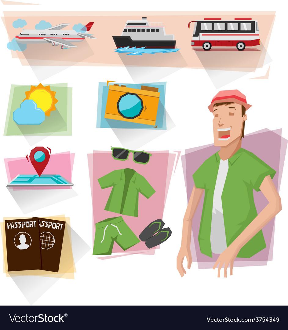 Travel info graphics vector