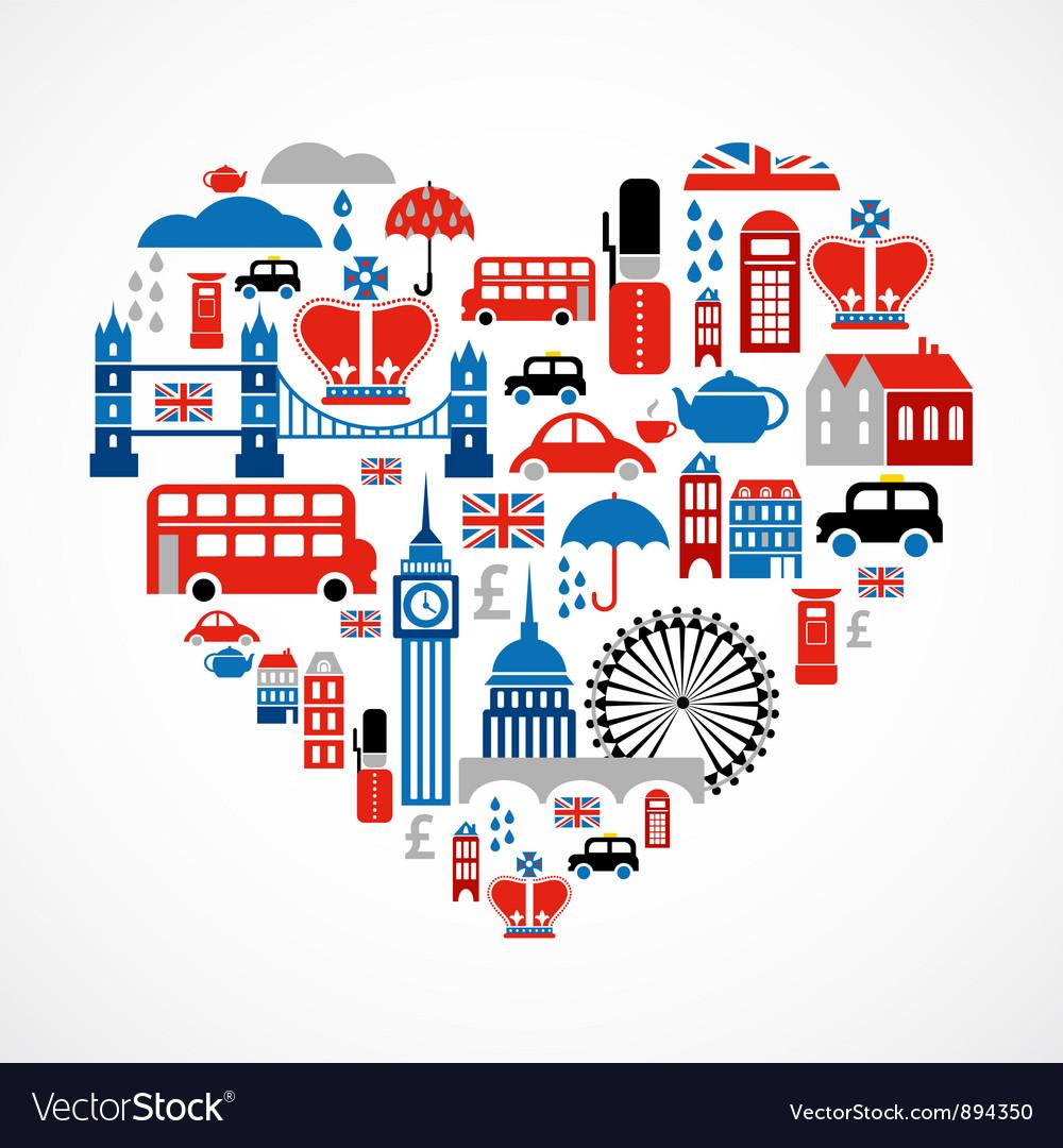 London love vector
