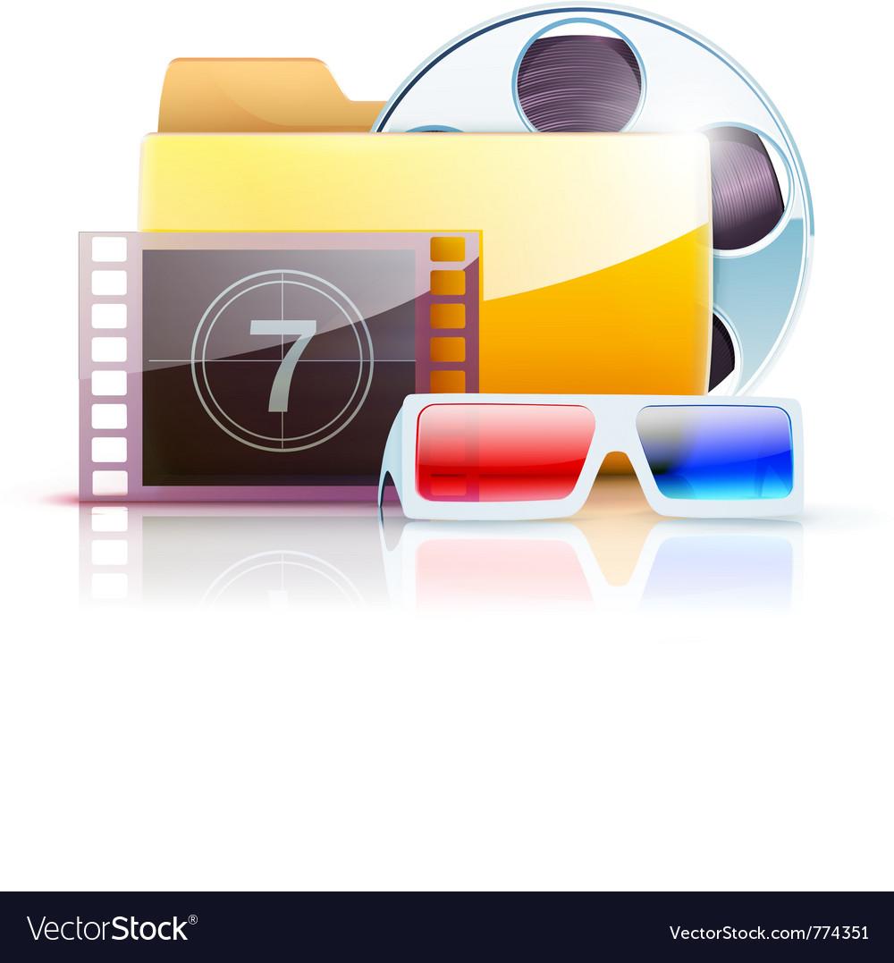 Digital video folder vector