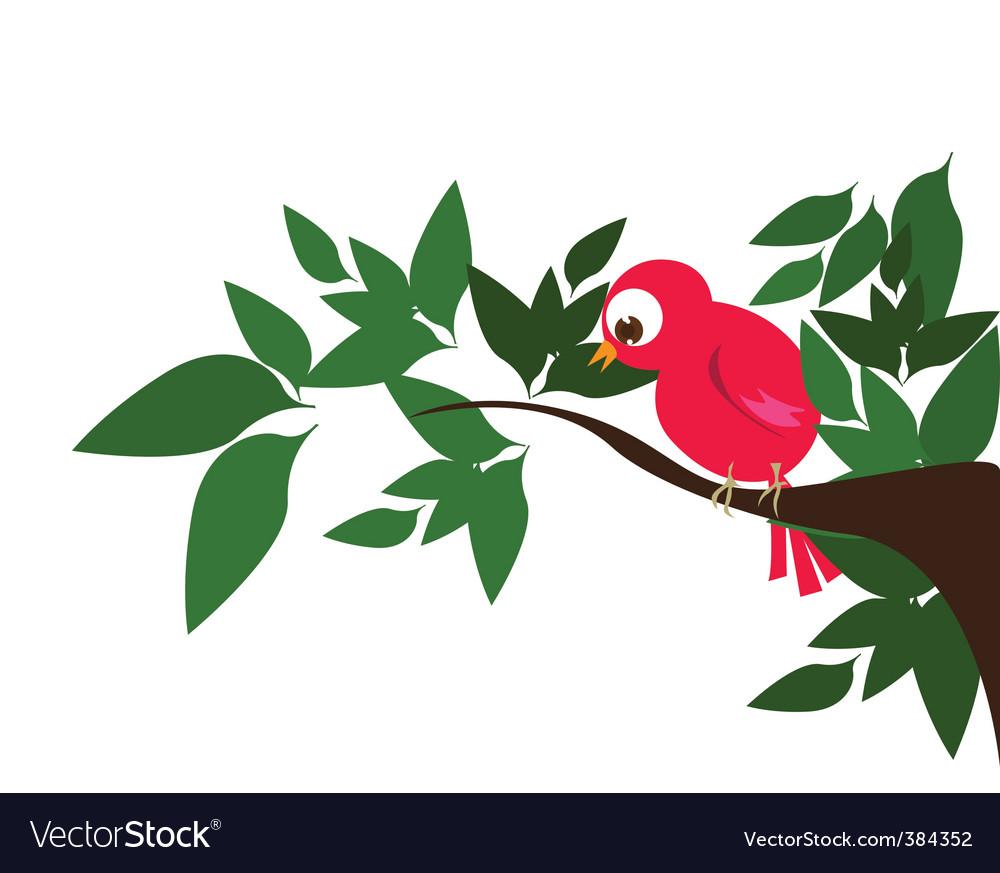 Bird in nature vector