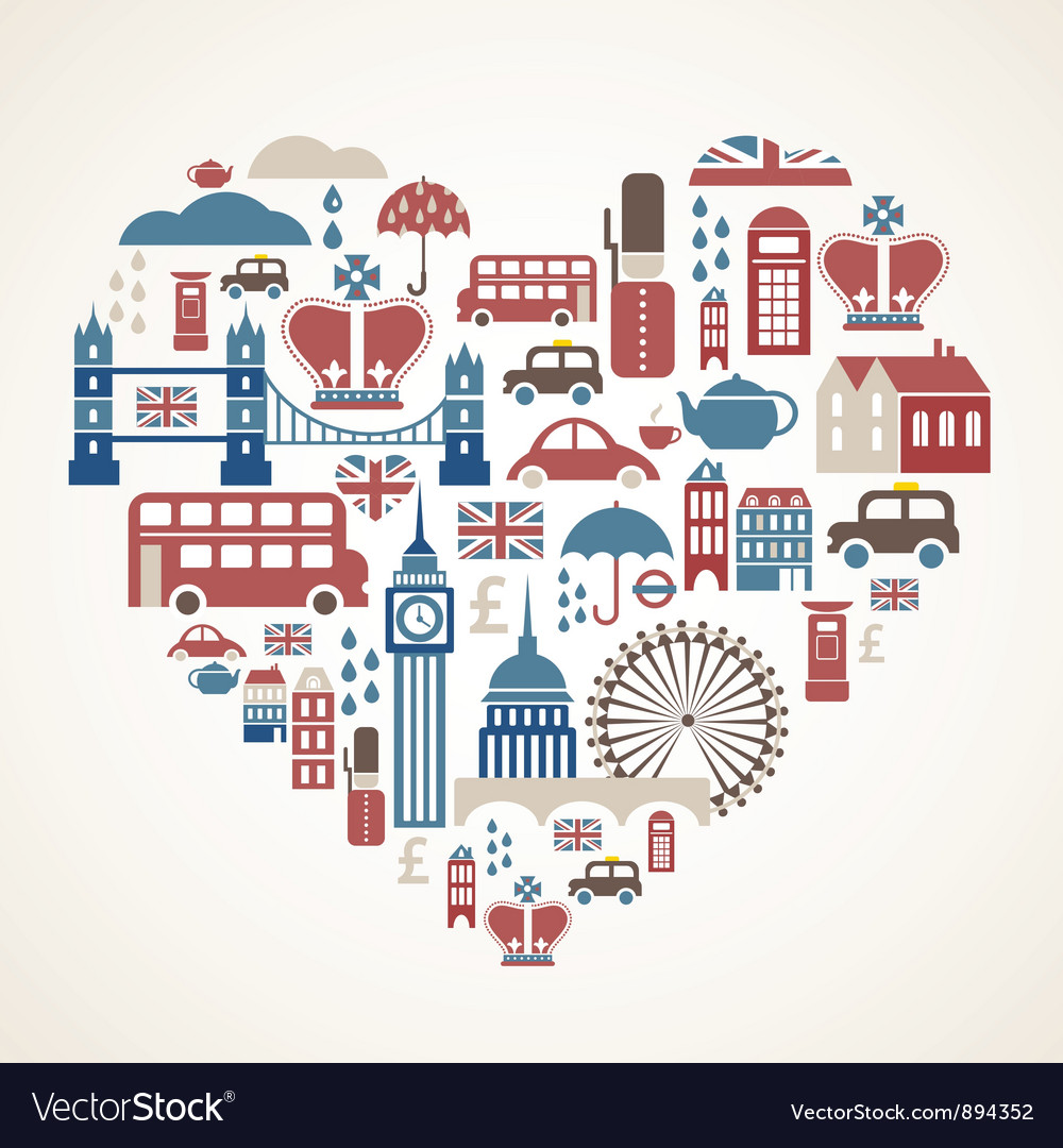 London love vector