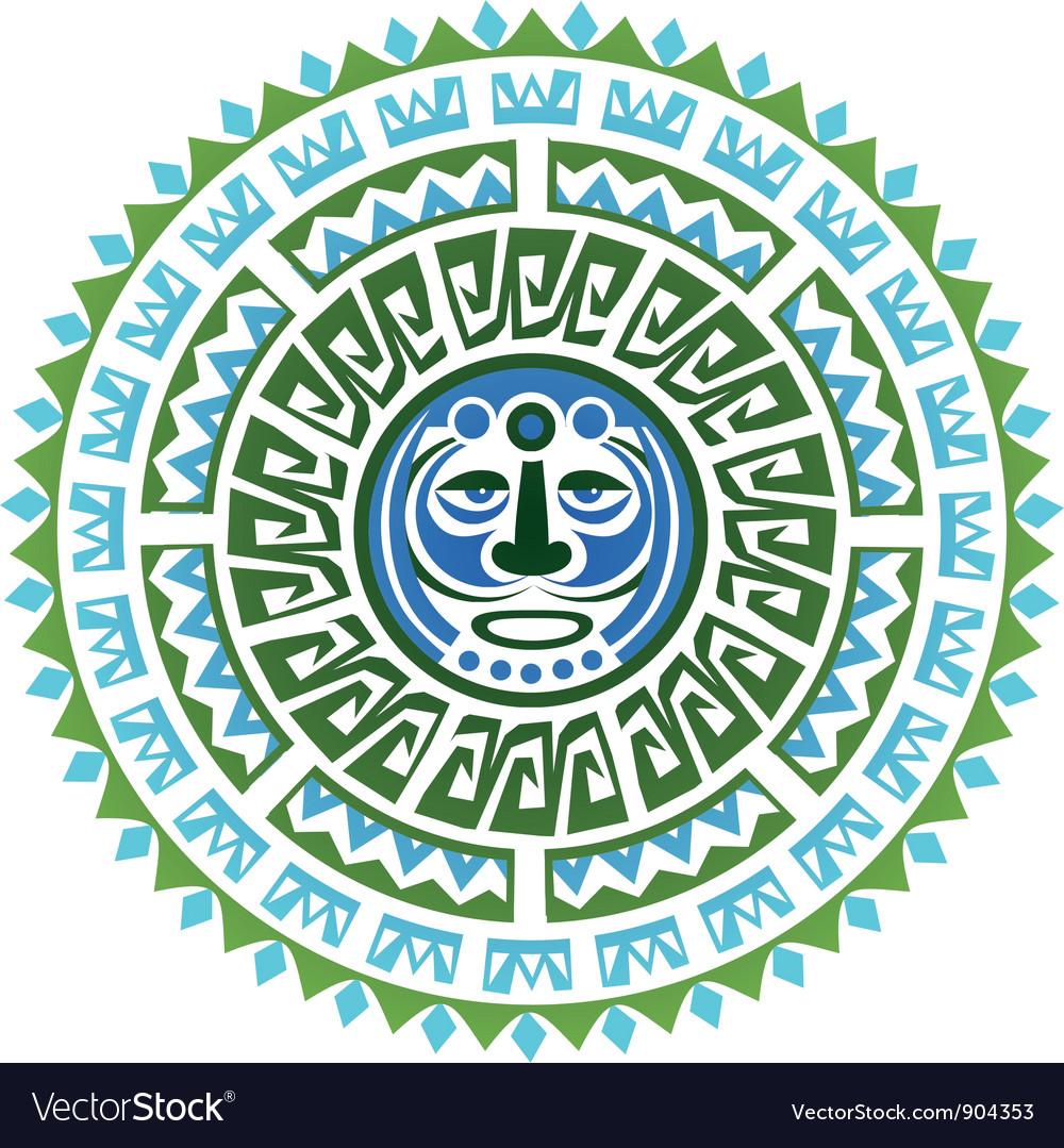 Maya tattoo concept vector