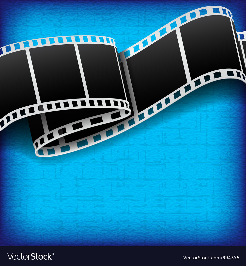 Abstract background with film reel vector