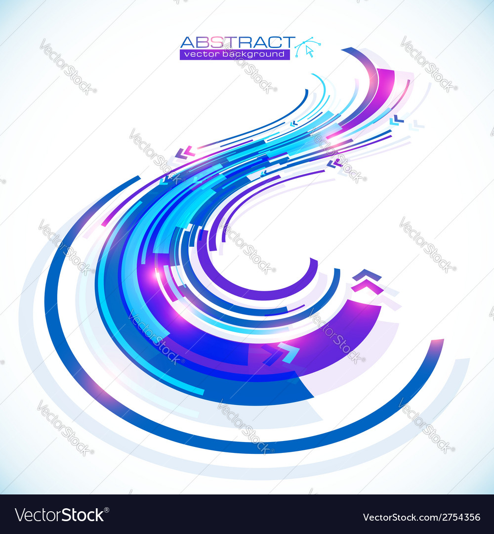 Blue abstract futuristic curve background vector