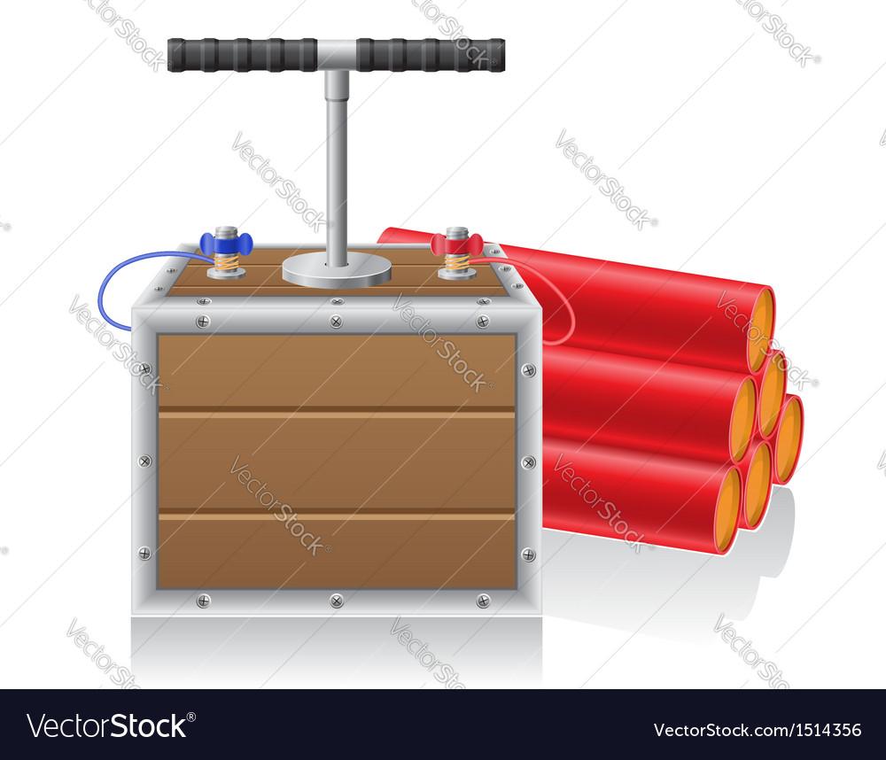Detonating fuse and dynamite vector