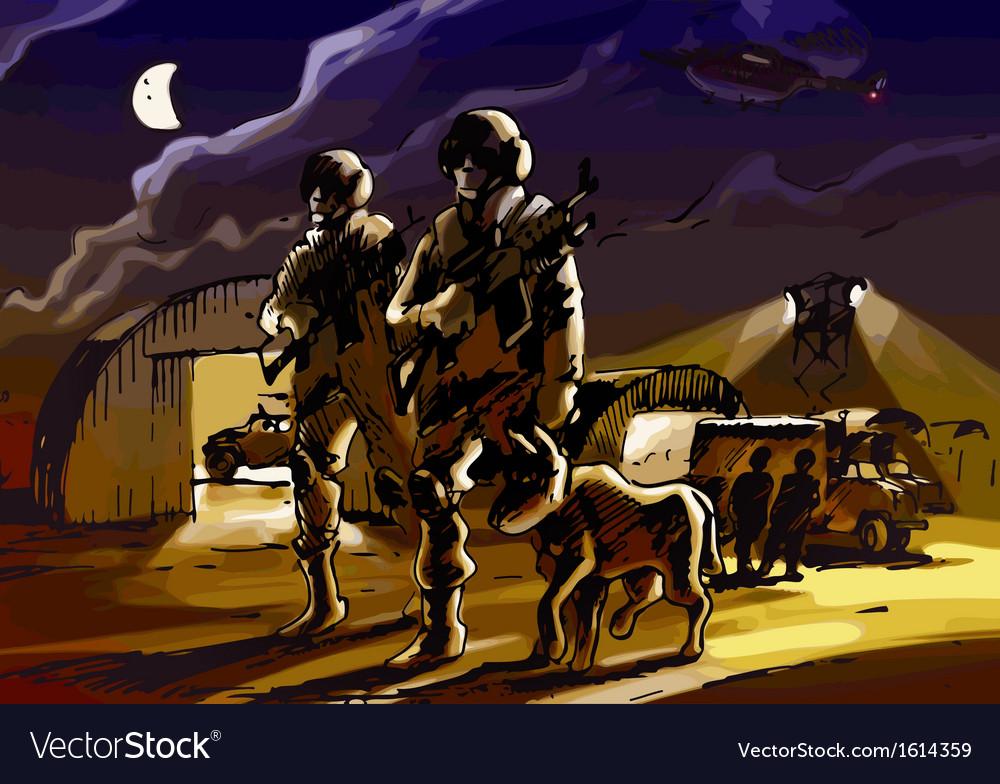 Night patrol vector