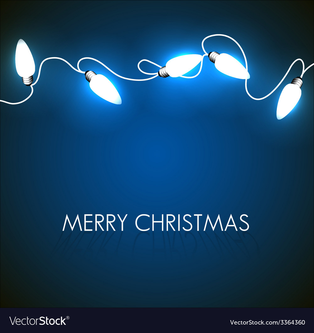 Christmas background with white lights vector