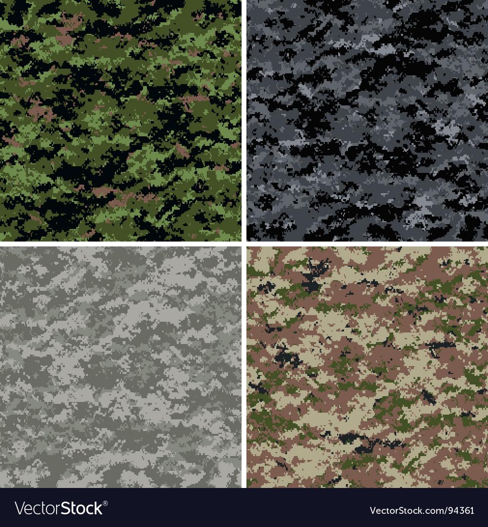 Digital camouflage patterns vector