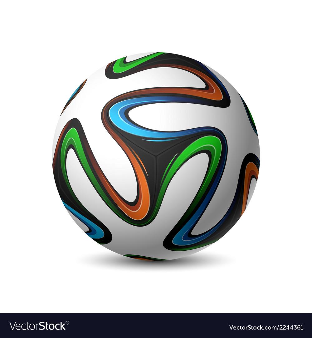 Football soccer match ball brazil 2014 vector