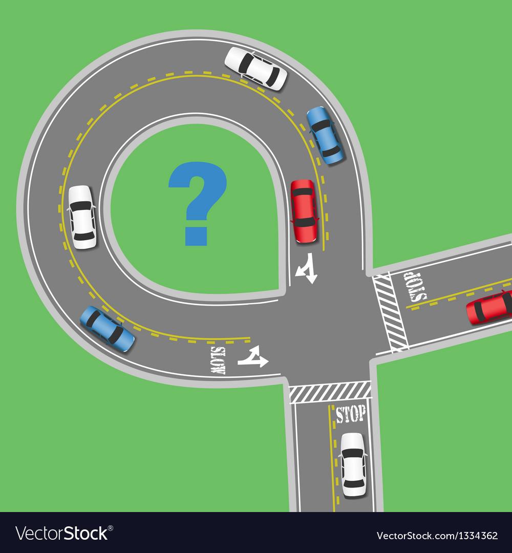 Travel information cars road street vector