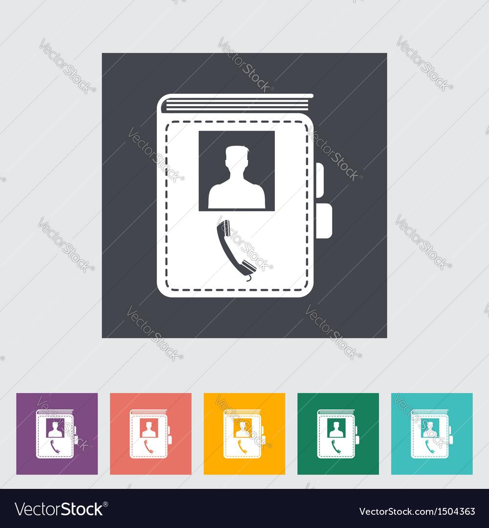Contact book vector