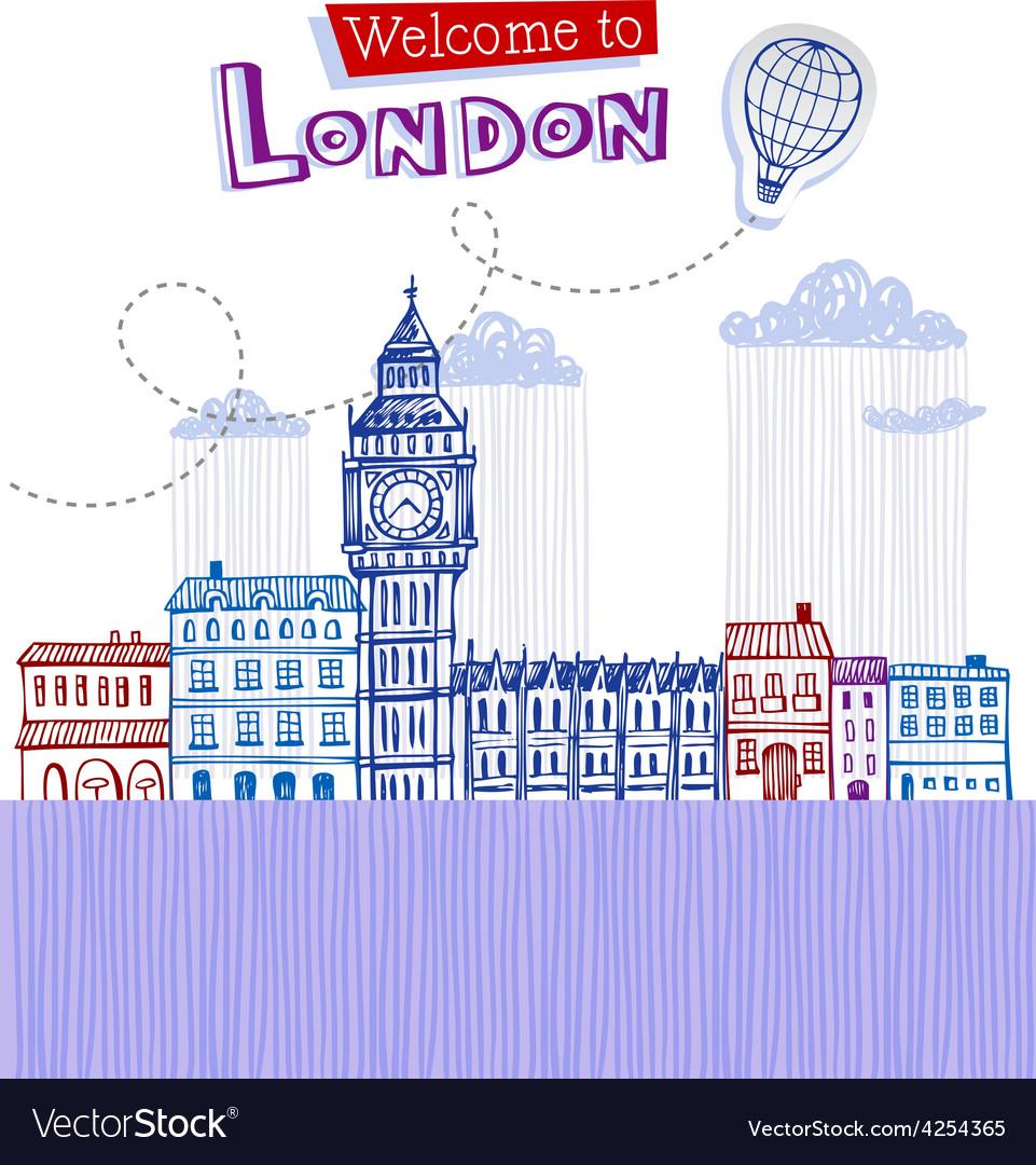 Big ben - symbol of london vector