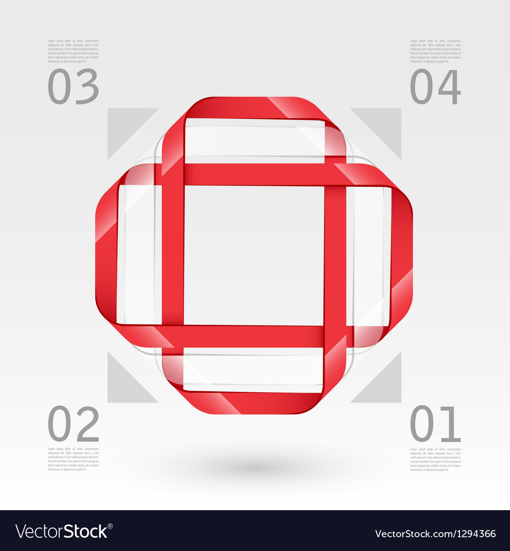 Abstract glass web template vector
