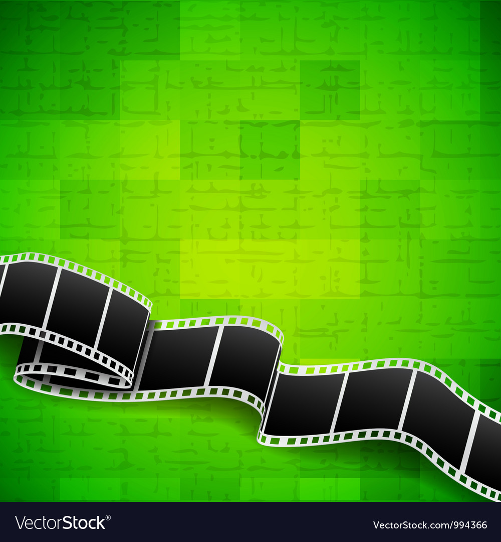 Abstract green background with film reel vector