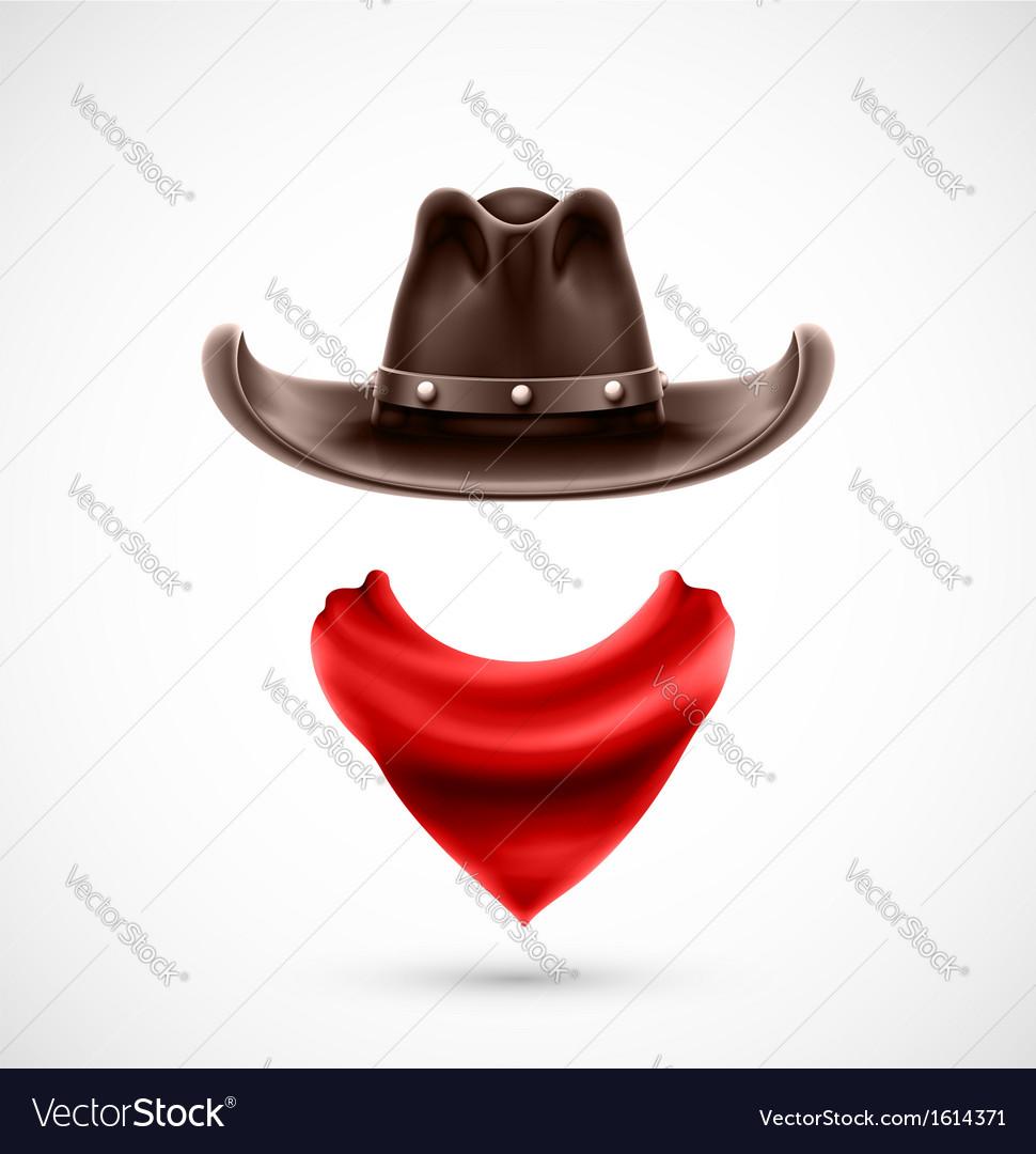 Accessories cowboy vector