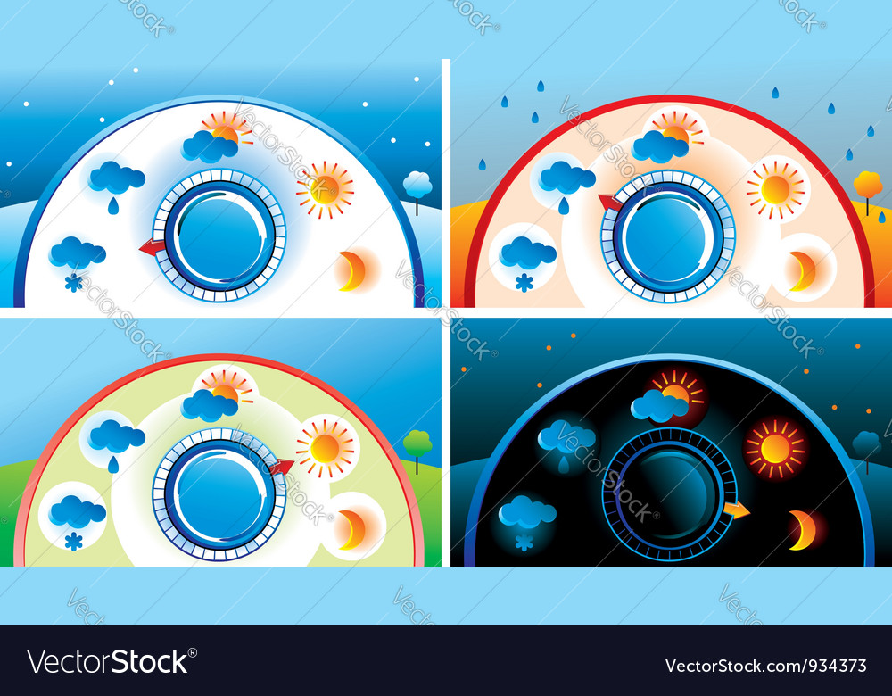 Weather thermometer vector