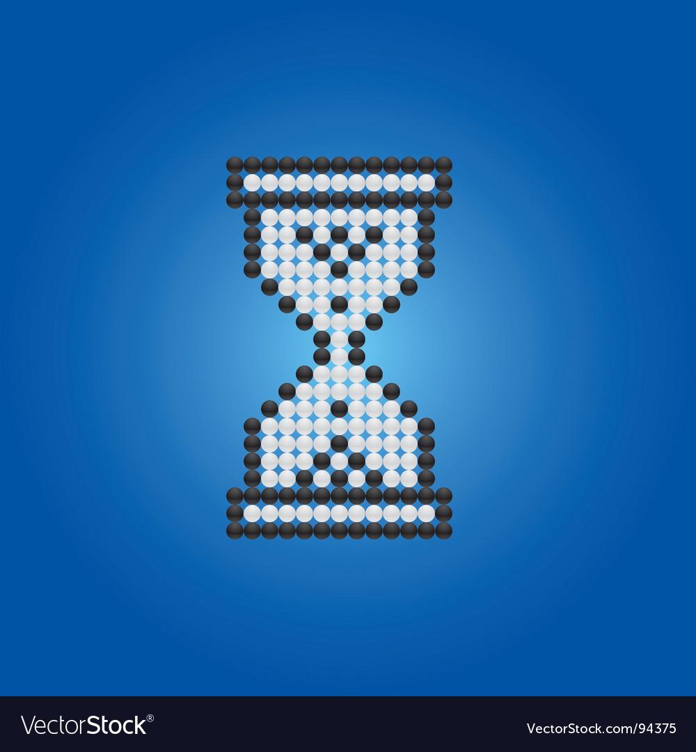 Hour glass cursor vector