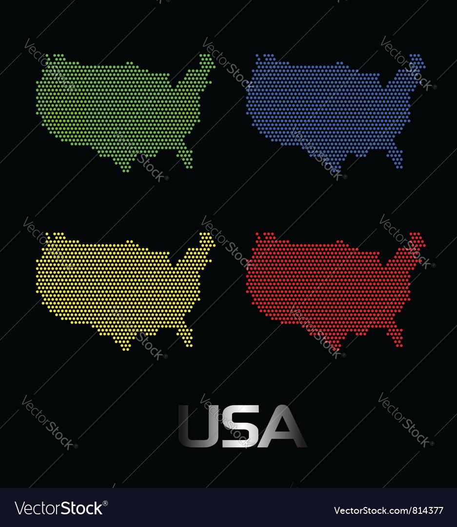 Digital usa map vector