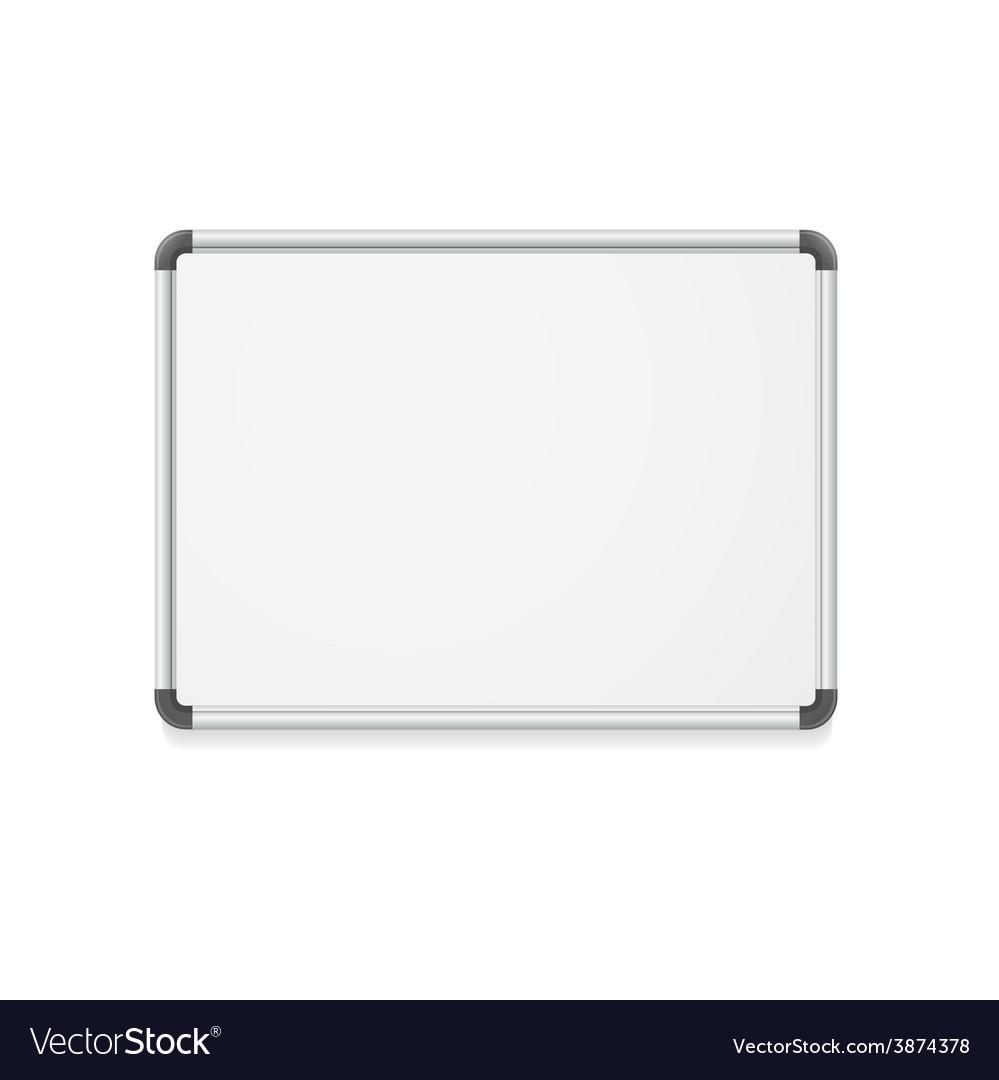 Empty whiteboard vector