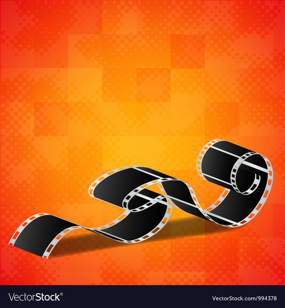 Orange background with film reel vector